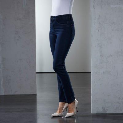 Damen-Stooker-Jeans mit Wascheffekt