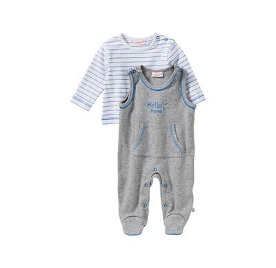 Baby-Jungen-Strampler-Set mit Streifen-Shirt, 2-teilig