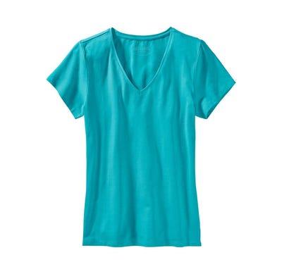Damen-T-Shirt mit V-Ausschnitt