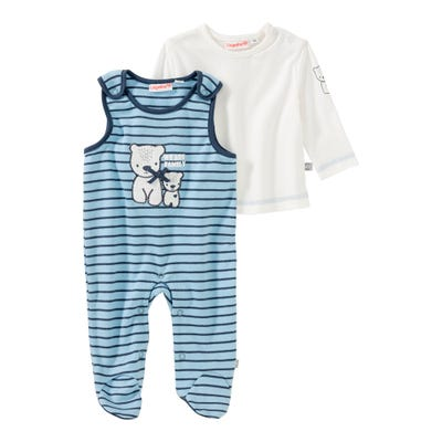 Baby-Jungen-Strampler-Set mit Punktemuster, 2-teilig