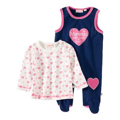 Baby-Mädchen-Strampler, 2-teilig