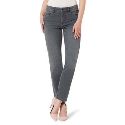 Damen-Stooker-Jeans mit Karo-Musterung