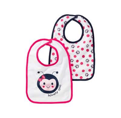 Baby-Mädchen-Lätzchen, 2er Pack