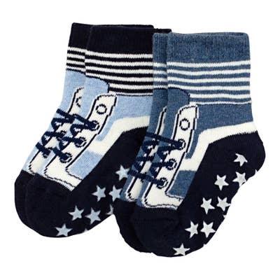 Jungen-Antirutsch-Socken, 2er Pack