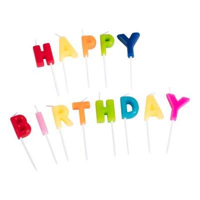 Happy Birthday Kerzen, 13-teilig