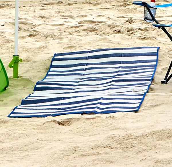 Strandmatte zur Tragetasche faltbar, ca. 80x190cm