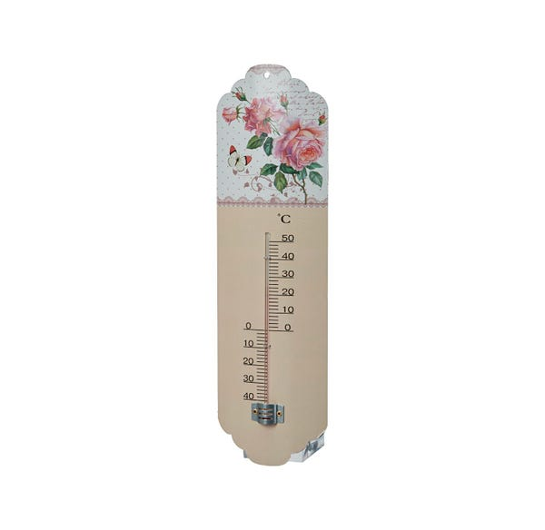 Thermometer mit Rosendesign, ca.10x2x31cm