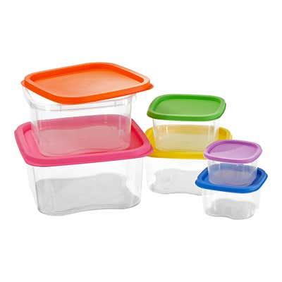 Frischhaltebox-Set in verschiedenen Farben, 6-teilig