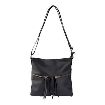 Damen-Handtasche mit Kunstleder-Quasten
