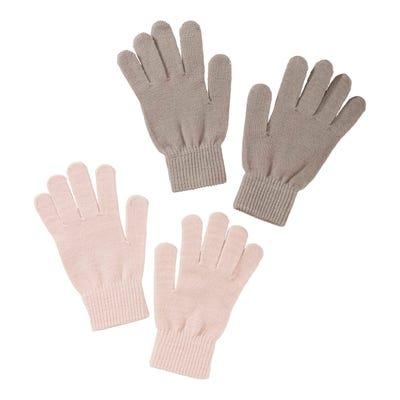 Damen-Handschuhe in weicher Qualität, 2er Pack