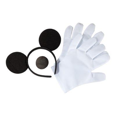 Mäuse-Set mit Nase, Ohren und Handschuhe, 3-teilig