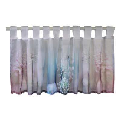 Bistrogardine  mit floralem Design, ca. 50x140cm