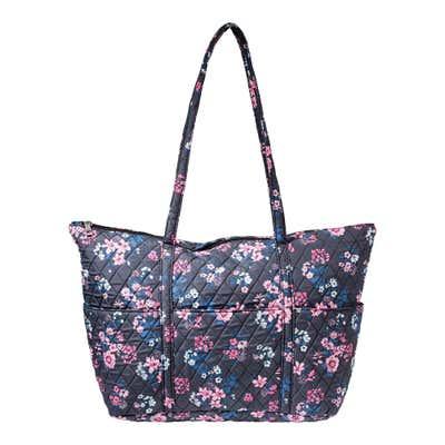Damen-Handtasche mit Blumenmuster