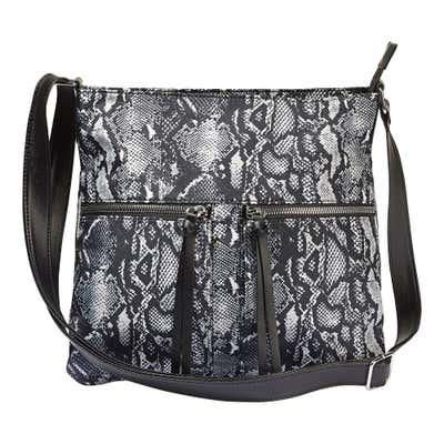 Damen-Handtasche in Schlangenhaut-Optik, ca. 29x29x8cm