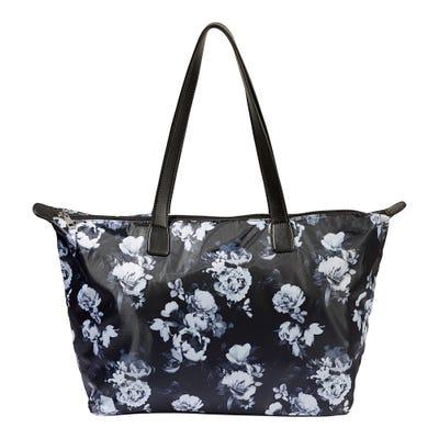 Damen-Handtasche mit Blumenmuster, ca. 50x29x16cm