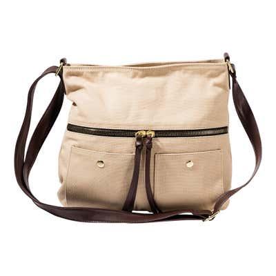 Damen-Handtasche mit 2 Vorfächern