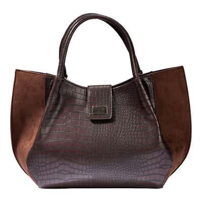 Damen-Handtasche mit trendigem Kunstleder-Design