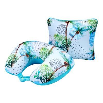 Nackenkissen in tropischem Design