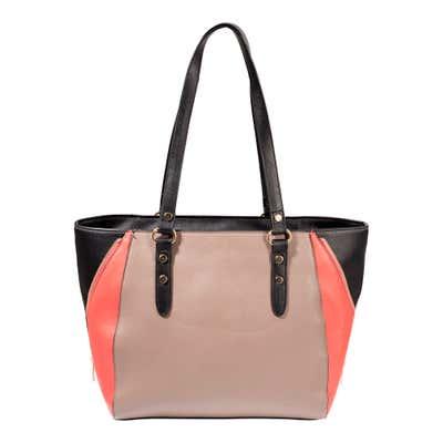 Damen-Handtasche mit dreifarbigen Design