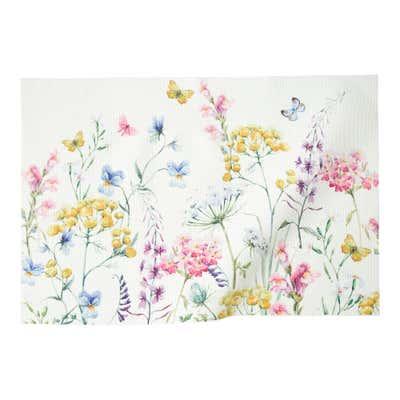 Platz-Set mit lebhaftem Blumenmuster, ca. 30x45cm