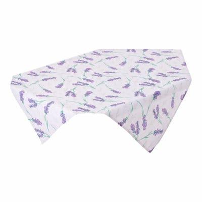 Mitteldecke mit traumhaftem Lavendel-Muster, ca. 80x80cm
