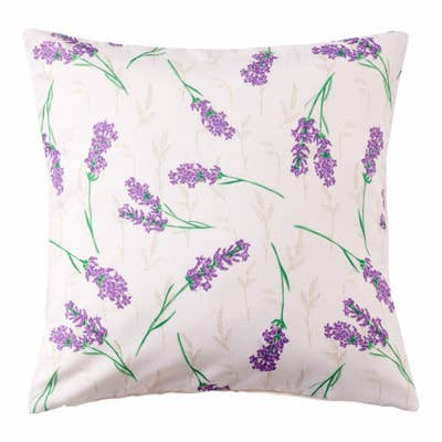 Kissenhülle mit traumhaftem Lavendel-Muster, ca. 40x40cm