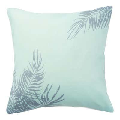 Kissenhülle mit tropischen Palmblättern, ca. 40x40cm