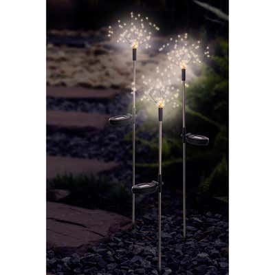 Solar-Gartenstecker Feuerwerk mit Erdspieß, ca. 23x85cm
