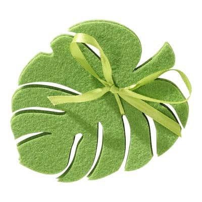 Filz-Untersetzer in tropischer Blattform