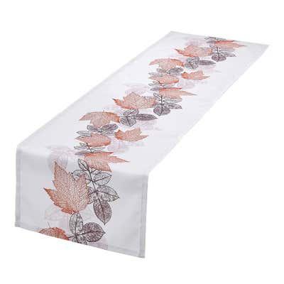 Tischläufer mit herbstlichem Blätter-Design, ca. 40x140cm