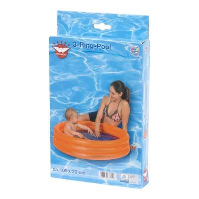 Wehncke 3-Ring Pool zum Aufblasen, ca. 100x23cm