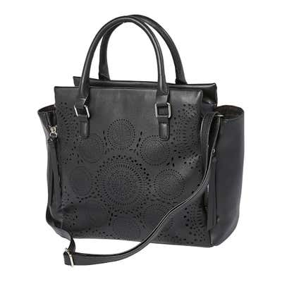 Damen-Handtasche mit Lochmuster