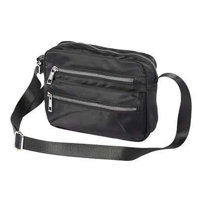 Damen-Handtasche mit 3 Reißverschluss-Fächern