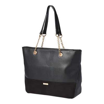 Damen-Handtasche mit Zierkettchen