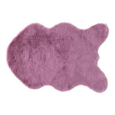 Teppich mit künstlichem Hasenfell, ca. 60x90cm