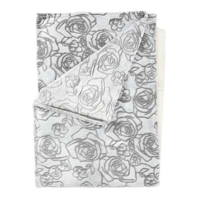 Kuscheldecke mit Rosen-Design, 150x200cm