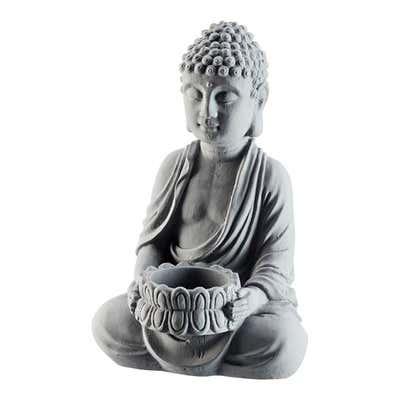 Buddha aus Zement, ca. 13x10x21cm
