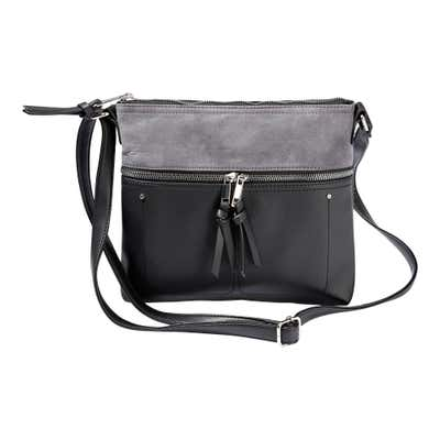 Damen-Handtasche mit Wildleder-Optik