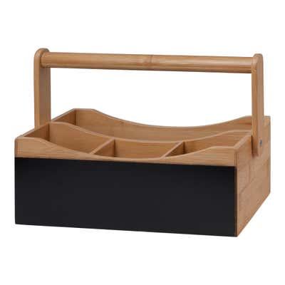 Bambus-Tischbutler mit praktischem Tragegriff, ca.  28x14,5x20 cm