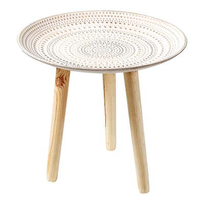 Tisch in klassischer Dreibein-Optik, Ø ca. 40x34