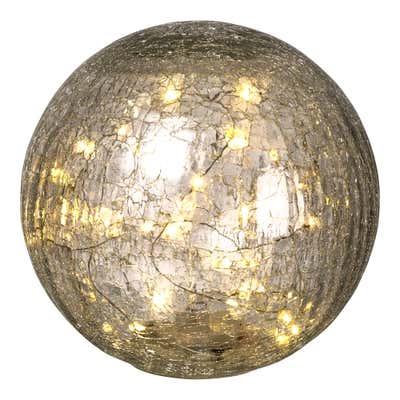 LED-Glas-Kugel mit faszinierenden Rissen, Ø ca. 20cm