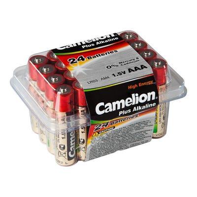 Camelion Batteriebox mit AAA-Batterien. 24er-Pack
