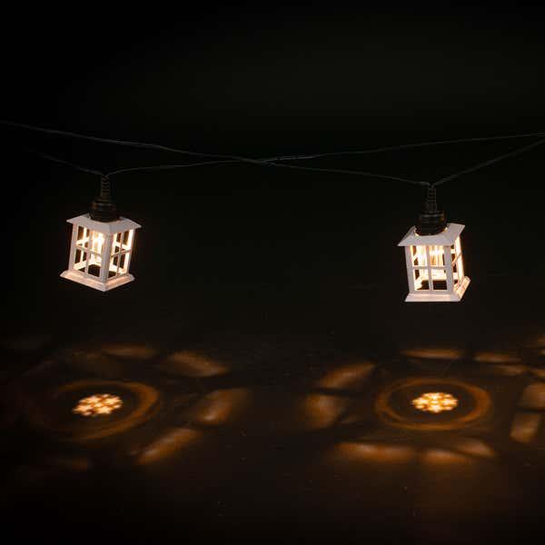 LED-Projektorlichterkette mit Sternen, ca. 50cm