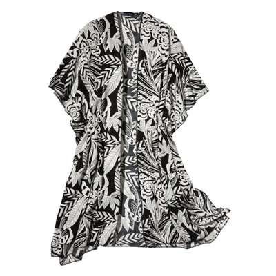 Damen-Strandkleid mit Blüten-Muster
