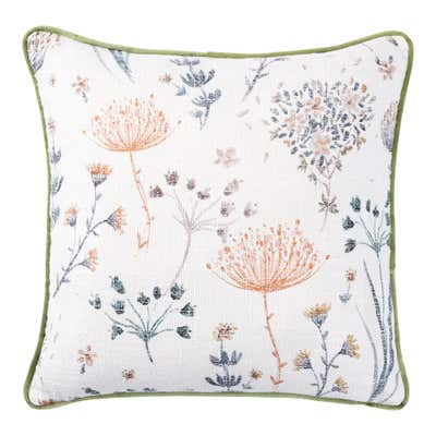 Deko-Kissen mit floralem Design, ca. 40x40cm