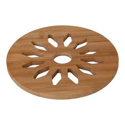 Bambus-Untersetzer mit Muster, Ø ca. 18cm, 2er Pack