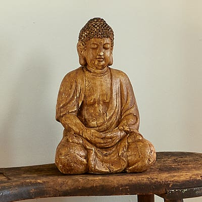 Deko-Figur Buddha in Holzoptik, ca. 30cm