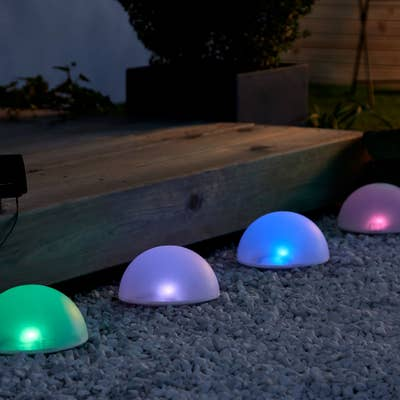 Solar-Bodenlichterkette mit Farbwechsel, ca. 4,5 m