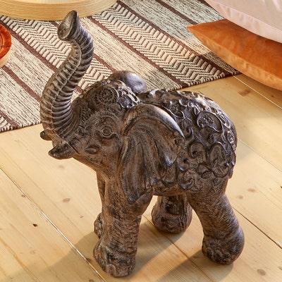 Deko-Figur Elefant in Holzoptik, ca. 43x23x50cm