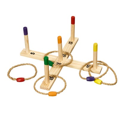 Playfun Ringwurfspiel aus Holz, ca. 40x5x2cm
